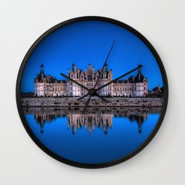 The castle of Chambord at night Wall Clock