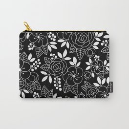Rosalia Black Carry-All Pouch