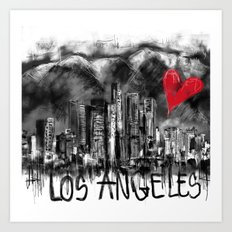 I love Los Angeles Art Print