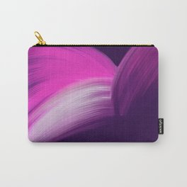 Pink and Purple Abstract Carry-All Pouch