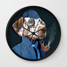 Dog Sherlock Holmes Wall Clock