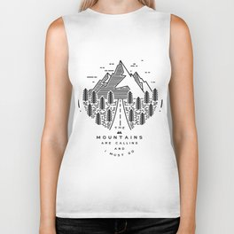 The mountains are calling and I must go- Nordic Biker Tank