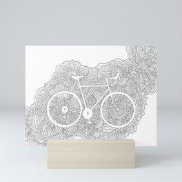 Bike Drawing Meditation Mini Art Print