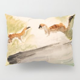 Stoat in the sunset (watercolor) Pillow Sham