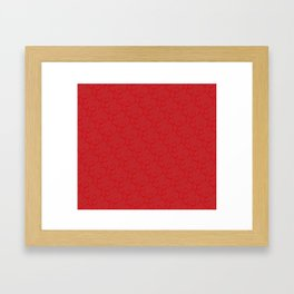 Dainty Ornaments Christmas Red Framed Art Print