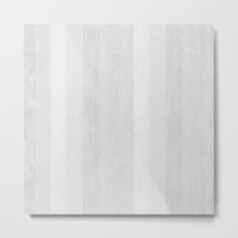 Gray Stripe Pattern Metal Print