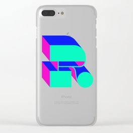 Letter R Clear iPhone Case