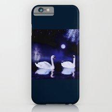 Swan lake at midnight Slim Case iPhone 6s