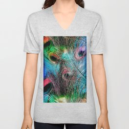Peacock Inferno Unisex V-Neck