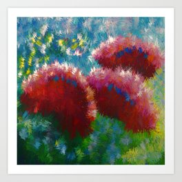 Contemporary Floral Abstract Art Print