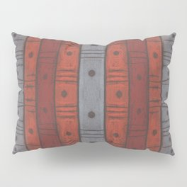 Stripes and dots in earth tones, Pillow Sham