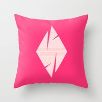 typo Throw Pillows featuring typo by Adrianna Bykowska