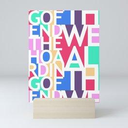 End the Hoarding of Wealth Mini Art Print