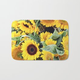 Happy Sunflowers Bath Mat