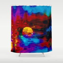 Strange Moon Shower Curtain