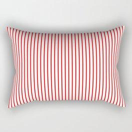 Thin Red Lines Vertical Rectangular Pillow