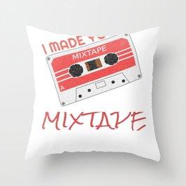 Cassette Tape 80s Retro Music Mix Tape design Throw Pillow