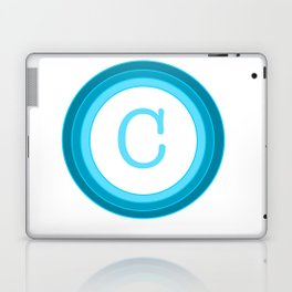 Blue letter C Laptop & iPad Skin