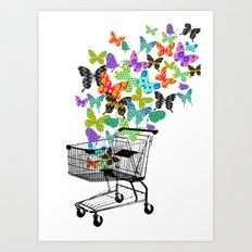 Urban Butterflies Art Print