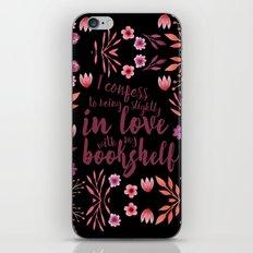Slightly In Love With My Bookshelf iPhone & iPod Skin