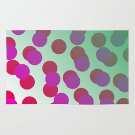 Cool dots - pink, green Elements Rug