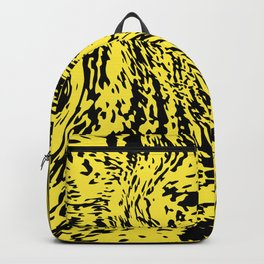 Aggressive yellow marble pattern Backpack