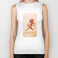 the flash Biker Tanks featuring Flash by Popol