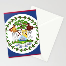 Belize flag emblem Stationery Cards