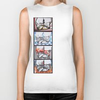 converse Biker Tanks featuring Converse by Creo