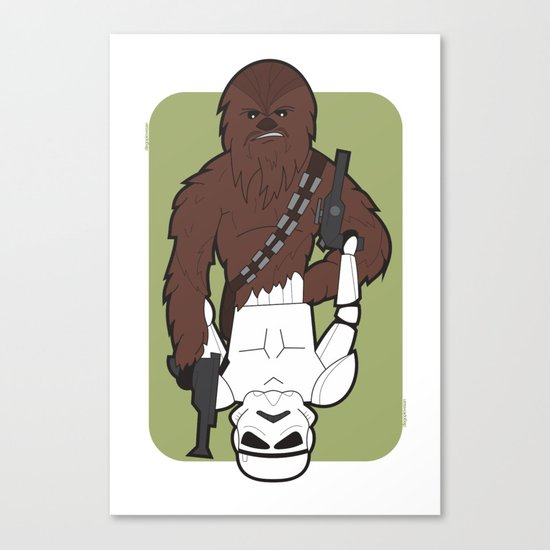 Chewbacca and Stormtrooper Canvas Print