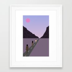 Walk Together Framed Art Print