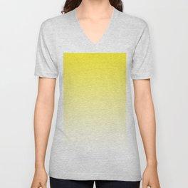 Yellow Light Ombre Unisex V-Neck