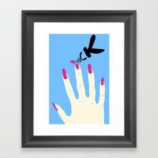 Nail Drama Framed Art Print