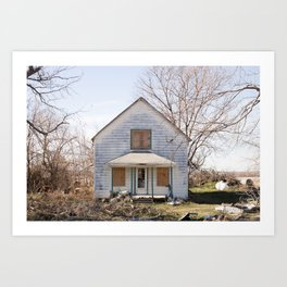 Between Cass and Mills County / A Decrepit Midwest Barn Art Print