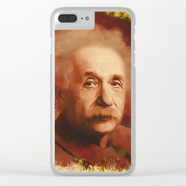 Albert Einstein, Scientist Clear iPhone Case