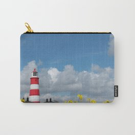 Happisburgh Lighthouse surrounded by Yellow flowering Oil Seed Rape Carry-All Pouch