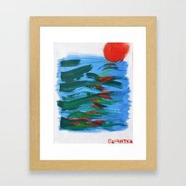 Into the Sea! Framed Art Print