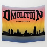 sports Wall Tapestries featuring DMolition Sports by DMolition