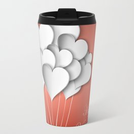 Balloons hearts from paper Valentine's Day Travel Mug