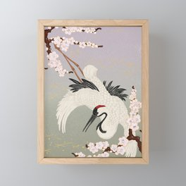 Japanese Crane Framed Mini Art Print