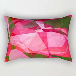 Pink Roses in Anzures 4 Abstract Polygons 2 Rectangular Pillow