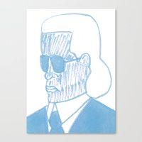 karl Canvas Prints featuring KARL by Kathryn Nyquist