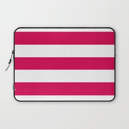 UA red - solid color - white stripes pattern Laptop Sleeve