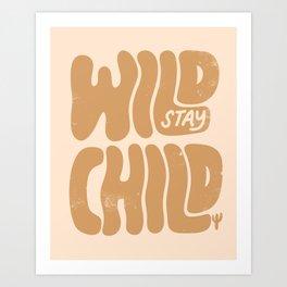 Stay Wild Vintage Desert Art Print