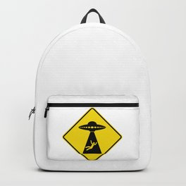 Alien Abduction Safety Warning Sign Backpack