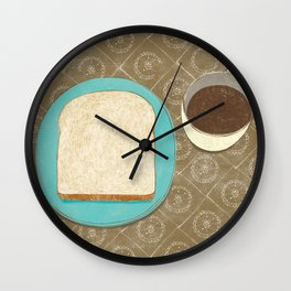 Bread and Coffee Wall Clock