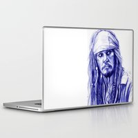 jack sparrow Laptop & iPad Skins featuring Jack Sparrow by Luna Perri