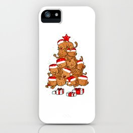 Meowy Catmas Tree iPhone Case