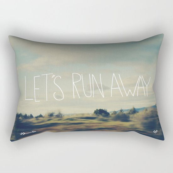 Let's Run Away Rectangular Pillow