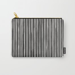 Skinny Stroke Vertical Off White on Black Carry-All Pouch